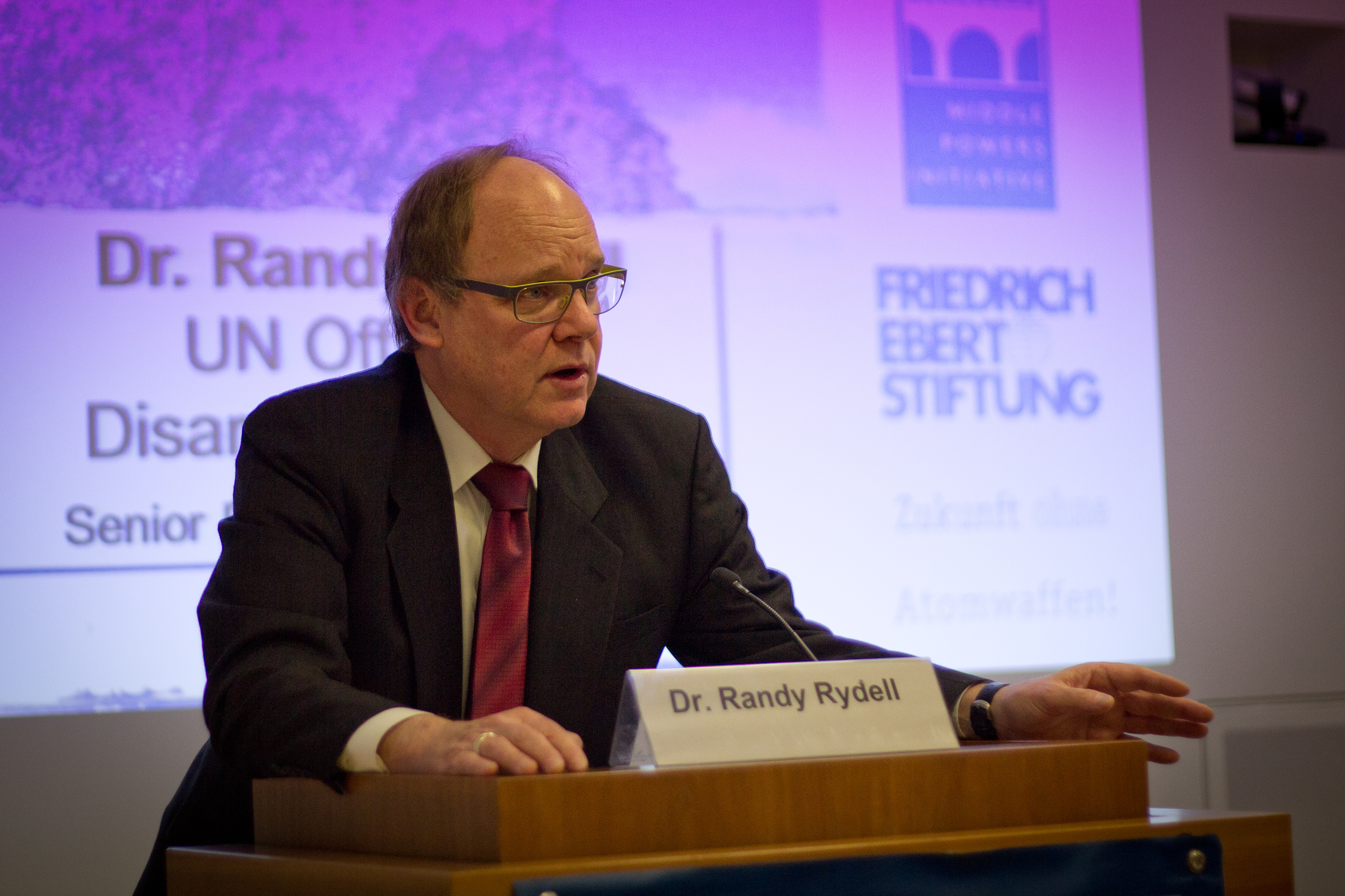 Randy Rydell, Senior Political Affairs Officer in the UN Office of Disarmament Affairs