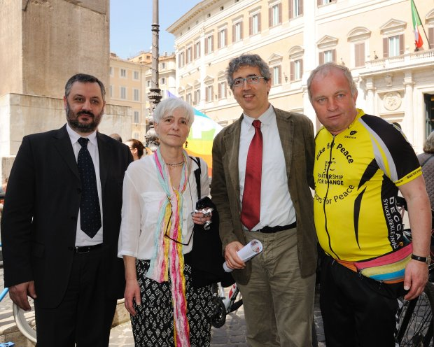 PNND members Filippo Fossati MP and Salvatore Capone MP with Tore Naerland and PNND Italy Coordinator Lisa Clark